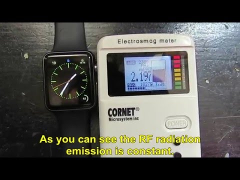 Radio Frequency Radiatio emitted from Apple Watch (iwatch)