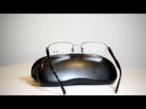 New Authentic Ray Ban Eyeglasses RX6195 2502 RX 6195 Half Rimless 51mm