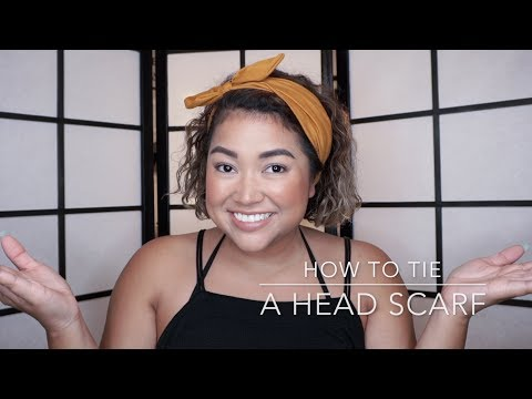 How to Tie A Head Scarf || The Savvy Beauty