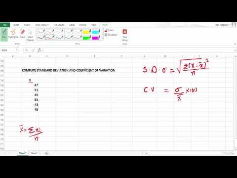Standard Deviation and Coefficient of Variation