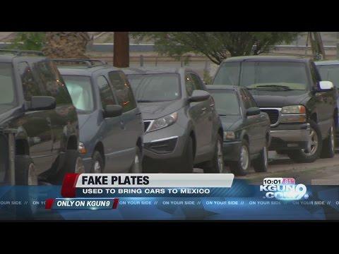 Fake Plates: A growing trend on Arizona's border