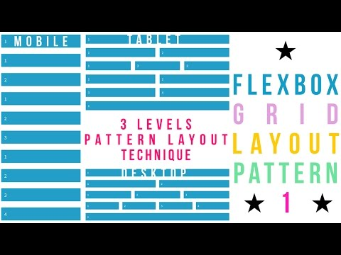 Flexbox Grid Layout Pattern - 1