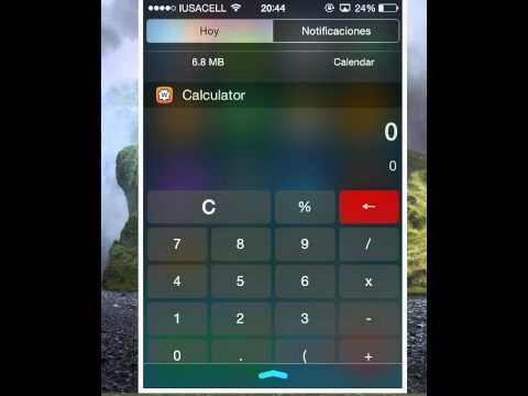 widgets ios en 8 iphone 4s