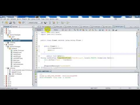 how to insert date and time in java with netbeans or eclipse