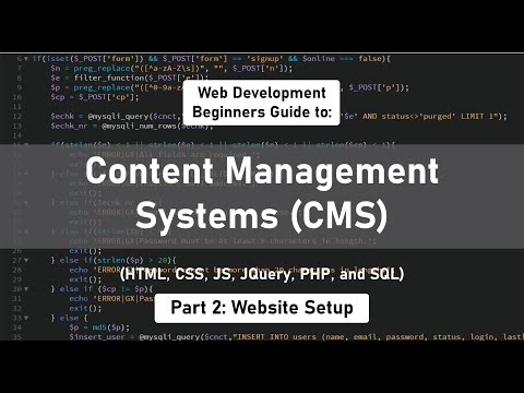 How to build a Content Management System [Part 2] (HTML, CSS, JS, JQuery, PHP, & MySQL)