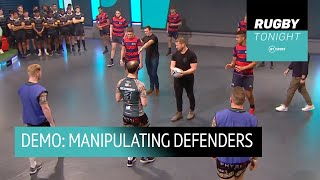 Rugby Tonight Demo - How to manipulate defenders for big gains!