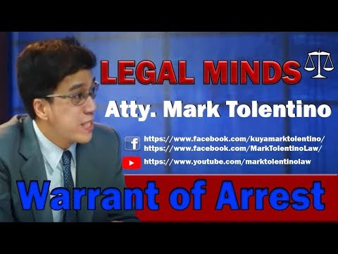 warrant of arrest