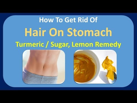how to get rid of hair on stomach - Turmeric / Sugar, lemon remedy