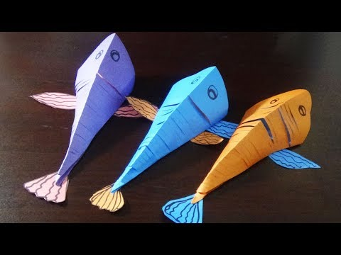 Flexible Fish | Flexible Fish With Color Paper | Easy And Simple For Kids |