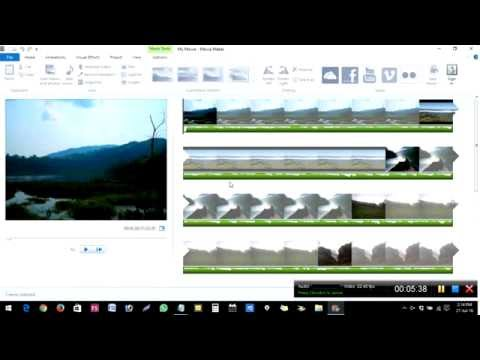 How to make still images or pictures into video in Windows Movie Maker