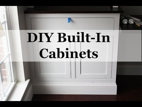 DIY Built-In Cabinets with Beaded Face Frames