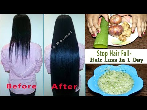 Say Goodbye to hair Fall n Stop Hair Loss  in 1 Day - Secret Hair Mask | Extreme Hair Growth |