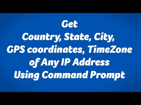 Get location details of IP Address Using Command Prompt