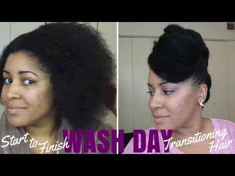 Wash Day 4c Transitioning Hair | 20 Months Post Relaxer