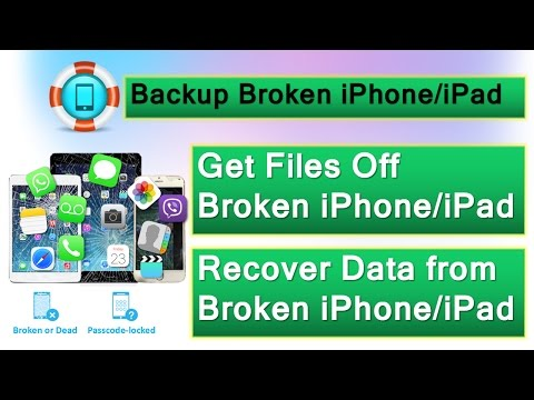 How to Backup & Recover Data from Broken iPhone or iPad