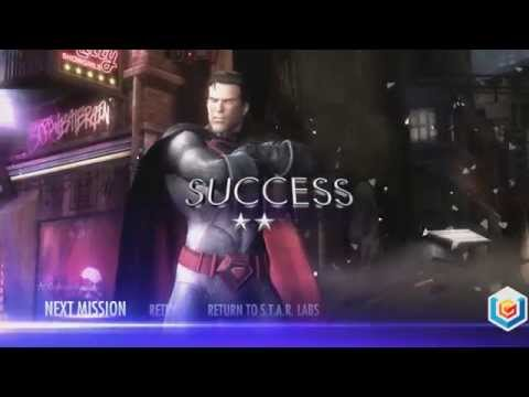 Injustice Gods Among Us Walkthrough Red Son DLC -- Superman S.T.A.R Lab Mission 242 -- 3 Stars Guide
