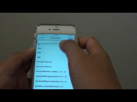 iPhone 6: How to Share a Contact Detail Through a Text Message