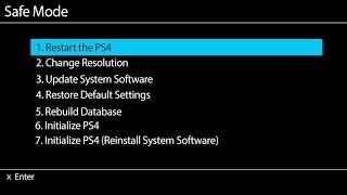 Sony Ps4 Rebuild Database In Safe Mode