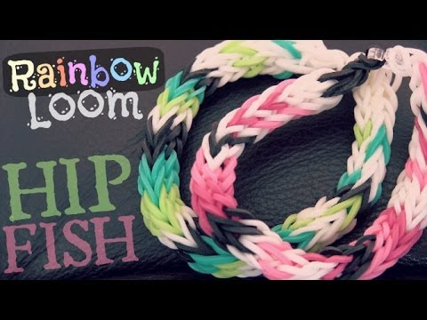 RAINBOW LOOM : Half Inverted Double Cross Fishtail - How To - HIP Fish | SoCraftastic