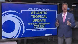 Tropics update: Tracking Tropical Depression Peter, Rose