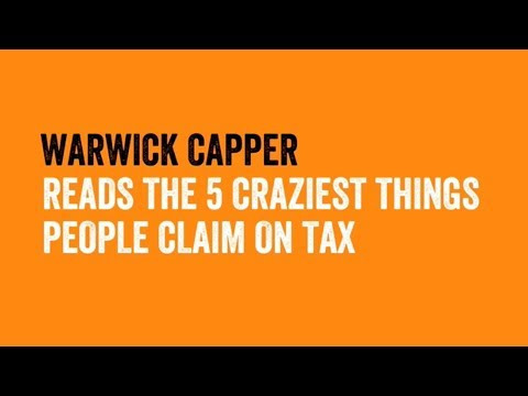 5 crazy things you can claim on tax
