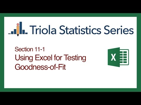 Excel Section 11-1: Using Excel for Goodness-of-Fit