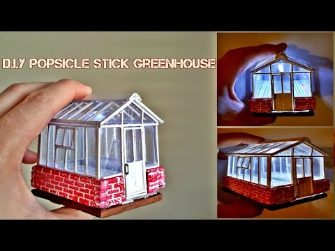 Making Mini Green House With Popsicle Sticks