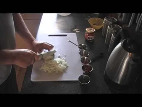 Red Onion chutney dip for popadoms Indian Takeaway.