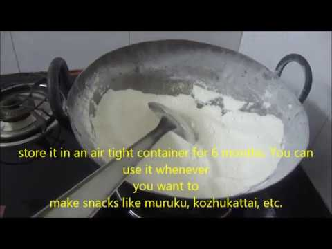 Readymade Raw Rice Flour Making in Tamil with English Subtitle.