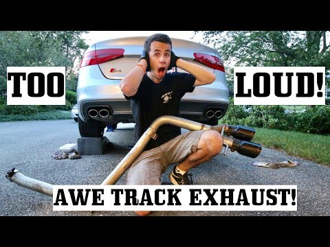 Making my Audi S4 too loud :/ AWE Track Exhaust install