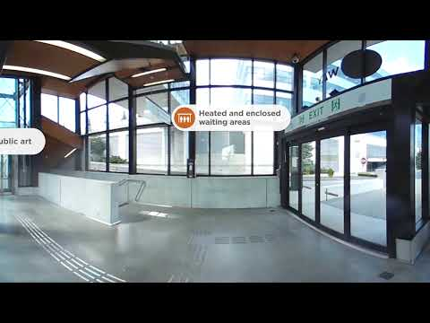 Mississauga Transitway – A look inside Etobicoke Creek Station