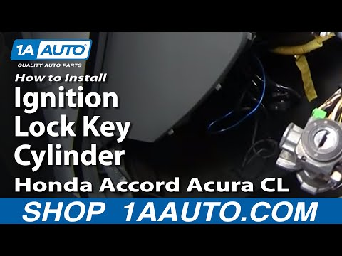 How To Install Replace Ignition Lock Key Cylinder Honda Accord Acura CL 94-97 1AAuto.com