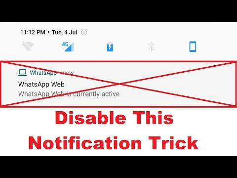 How to disable Whatsapp Web is Currently Active Notification Hide Trick