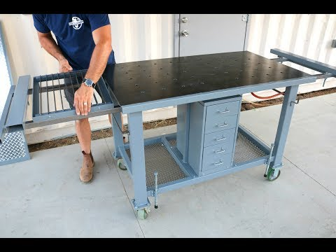 Welding Table Upgrades - Plasma cutting, slide outs, drawers...