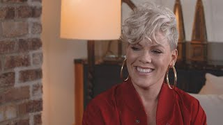 Pink on Life, Kids and Husband Carey Hart (FULL INTERVIEW)