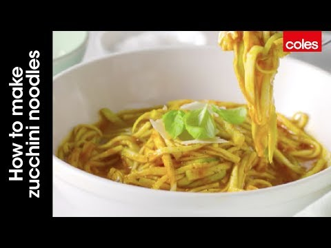 How to make zucchini noodles (zoodles)