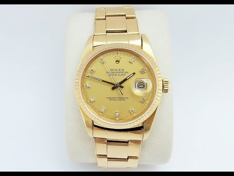 Vintage 1980's Rolex Oyster Perpetual DateJust 18ct Watch