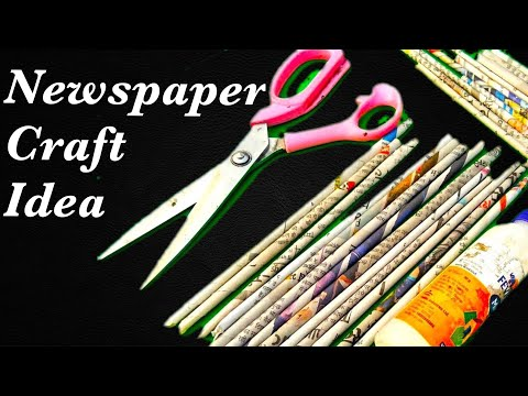 NewsPaper crafts !! How to make honeycomb ball using newspaper - cool and creative