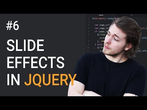 6: How to make slide effects in jQuery - Learn jQuery front-end programming