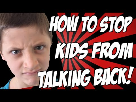 How to Stop Kids from Talking Back to Parents