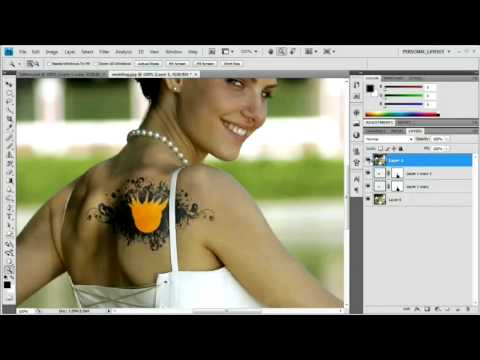 [HD] Photoshop Tutorial: Add and Remove Tattoos