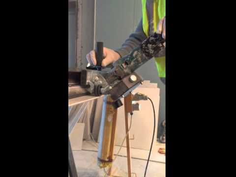 How to cut a 45 degrees the large format wall and Floor Tiles- The tools is Cut Jolly
