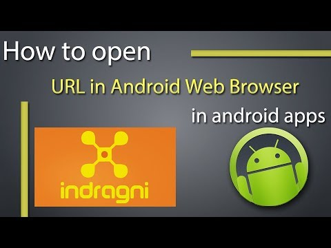 How can I open a URL in Android's web browser from my application