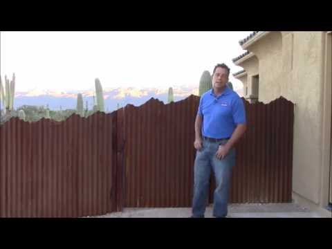 Corrugated Steel Fence with Mountain Top Design | Affordable Fence and Gates
