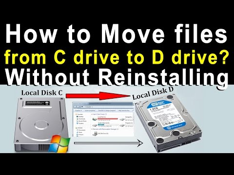 How to Move files from C drive to D drive? Without Reinstalling