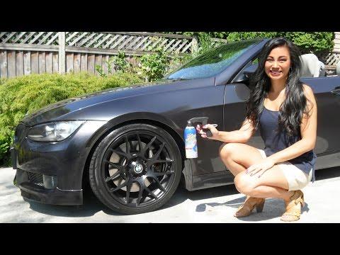 How to Apply Plasti Dip Glossifier to Non-Plasti Dipped Rims (Wheels left on car)