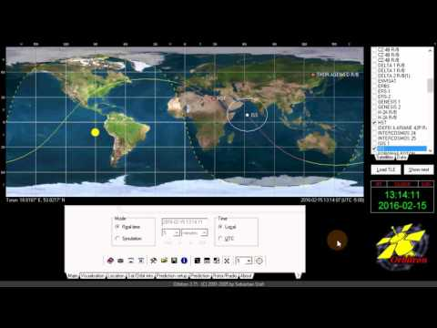 Orbitron Satellite tracking software setup for map selection TLE or Kepler update and Your location