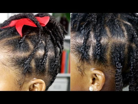 Braids & Twists   Cute & Easy Protective Style  Natural Hair for Little Girls