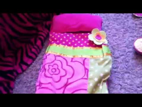 Ag doll me inflatable sleeping bag set