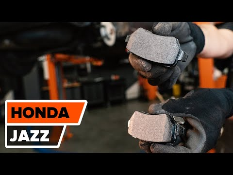 How to replace rear brake discs and rear brake pads on HONDA JAZZ 2 TUTORIAL | AUTODOC